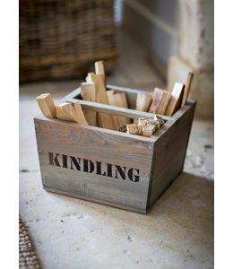 Landhaus Rustikale Holzbox für Kaminanzünder