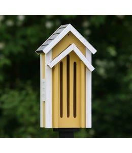 Shabby Chic Schmetterlingskasten, gelb