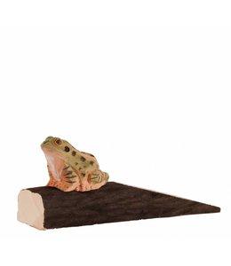 Wildlife Garden Türstopper mit Frosch handgeschnitzt