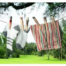 Wildlife Garden Wäscheklammern mit handgeschnitzten Tieren