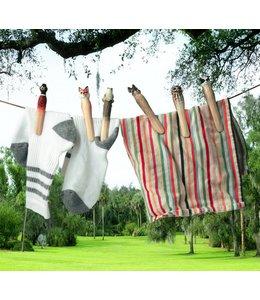 Garten Wäscheklammern mit handgeschnitzten Tieren - Schwedischer Landhausstil