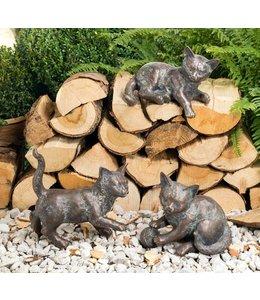 Landhaus Kätzchen 3er Set Bronze