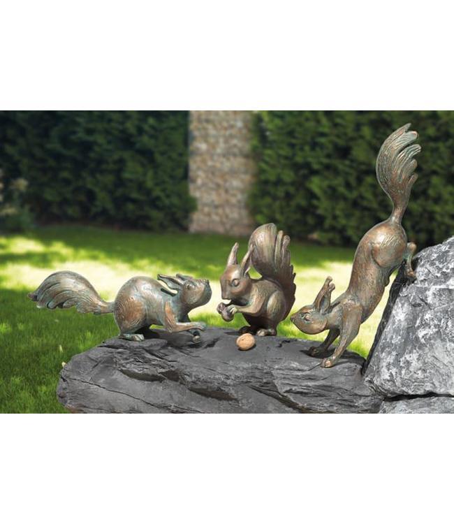 Landhaus Eichhörnchen 3er-Set Bronze