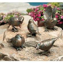 Bronze Spatzen im 5er-Set