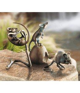 Landhaus Mäuse 3er-Set Bronze