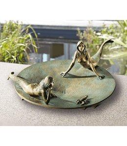 Edition Strassacker Vogeltränke mit Nixen Bronze