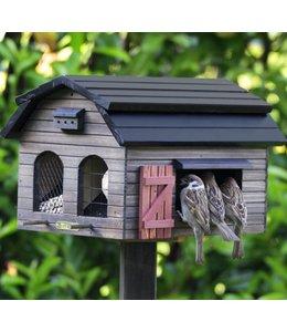 Landhaus Futterscheune für Vögel, braun