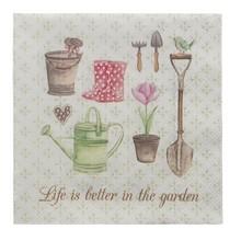 """Wohnaccessoires Landhausstil Papierservietten """"Life is better in the garden"""""""