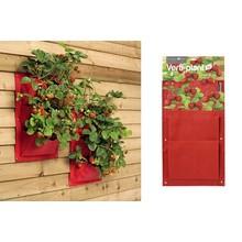 Burgon & Ball: 2 Pflanztaschen für die Wand - Erdbeere