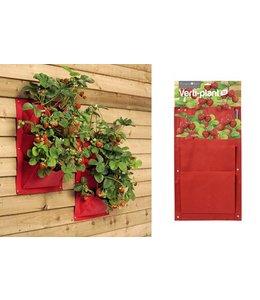 Pflanztaschen für die Wand - 2er-Set, Erdbeere