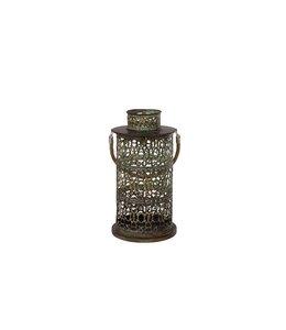 Rustikale Metall-Laterne mit Patina