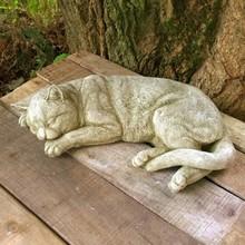 """Gartenfiguren aus Stein Steinfigur """"Schlafende Katze"""""""