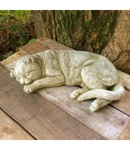 """Steinfiguren für den Garten Steinfigur """"Schlafende Katze"""" im englischen Landhausstil"""