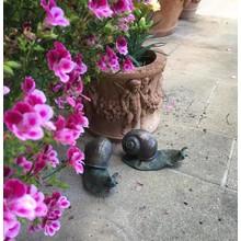 Gartendekoration Landhausstil Schmucke Schneckenfiguren im 2-er Set