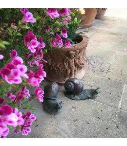 Garten Schmucke Schneckenfiguren im 2-er Set