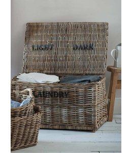 Shabby Chic Wäschebox mit 2 Fächern für helle und dunkle Wäsche