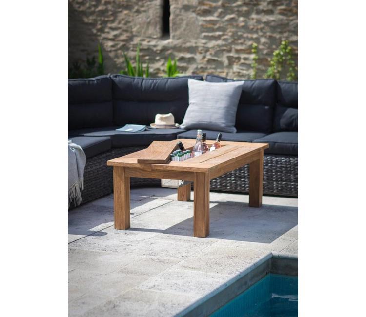 Gartentisch Landhaus 120x70 Teakholz Villa Jahn