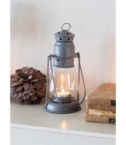 Garten Miners Teelicht-Laterne in Charcoal