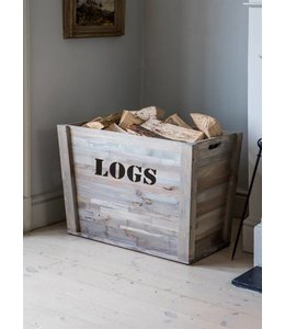 Rustikale Feuerholz-Box
