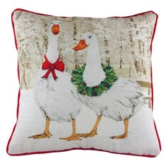 """Evans Lichfield Country-Kissen """"Weihnachtsgänse"""""""
