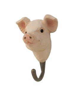 Landhaus Kleiderhaken Schwein