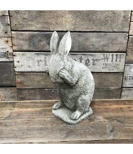 Schüchternes Häschen - Steinfigur für Garten & Landhaus