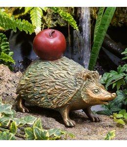Landhaus Igel mit Apfel Bronze