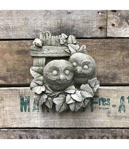 Garten Eulen - Dekoratives Wandbild aus Stein