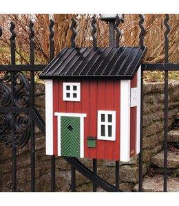 Landhaus Briefkasten rot