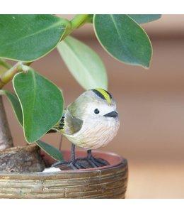 Wildlife Garden Wintergoldhähnchen handgeschnitzt