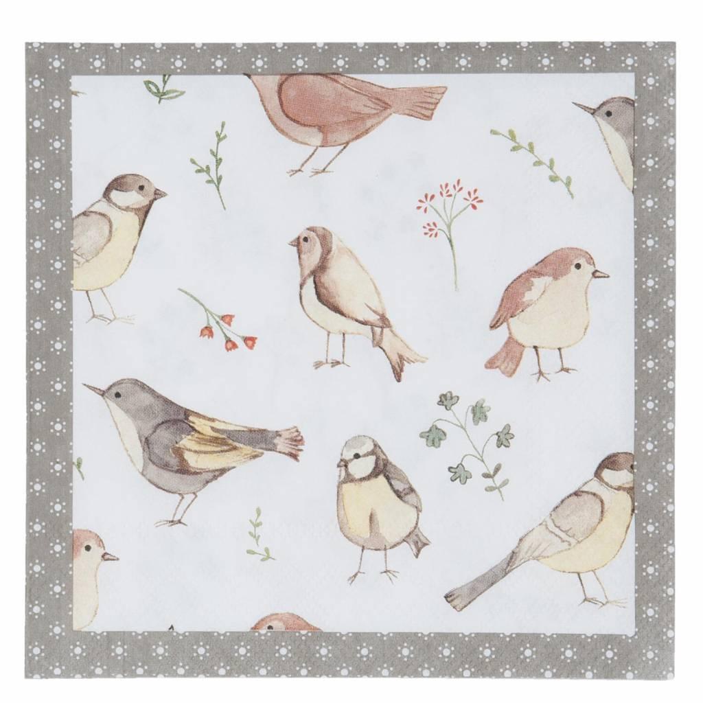 Wohnaccessoires Landhausstil Papierservietten Gartenvögel