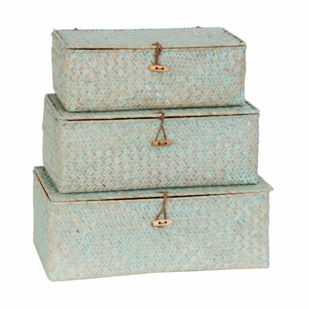 Wohnaccessoires Landhausstil Aufbewahrungsboxen 3er Set