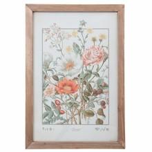 Wohnaccessoires Landhausstil Wandbild mit Blumen