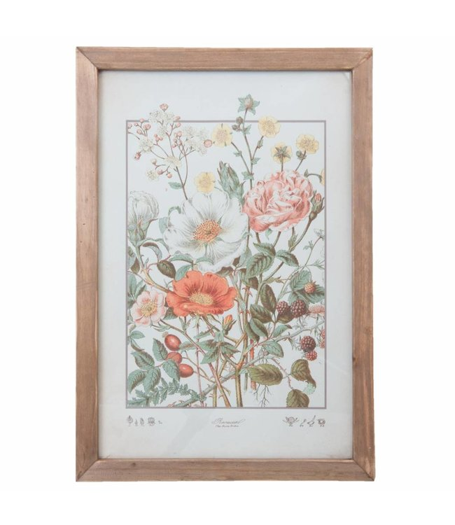 Wandbild mit Blumen