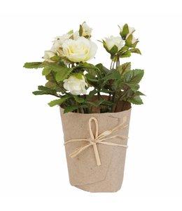 Kunstrose im Blumentopf