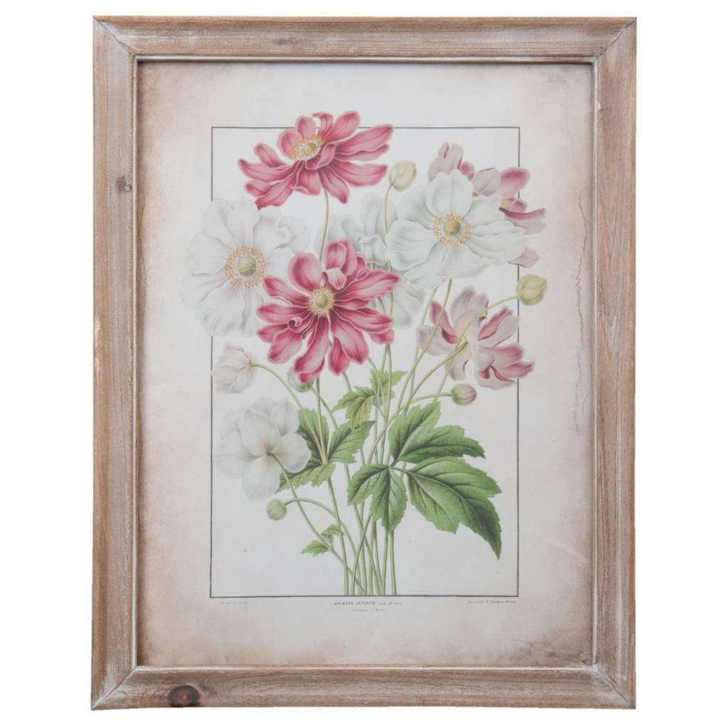 Wohnaccessoires Landhausstil Wandbild Blumen