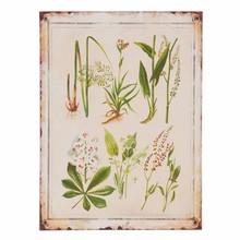 Wohnaccessoires Landhausstil Dekoschild Pflanzen