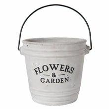 """Wohnaccessoires Landhausstil Blumentopf """"Flowers & Garden"""""""