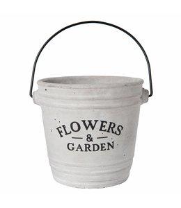 "Blumentöpfe Landhausstil Blumentopf ""Flowers & Garden"" - 2er Set"