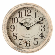 "Wohnaccessoires Landhausstil Wanduhr ""Kensington Station"""