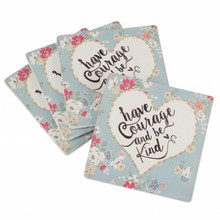 "Wohnaccessoires Landhausstil Untersetzer ""have Courage and be Kind"", 4er-Set"