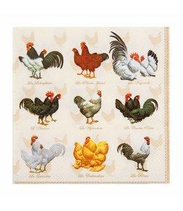 """Landhaus Papierservietten """"Hühner"""""""