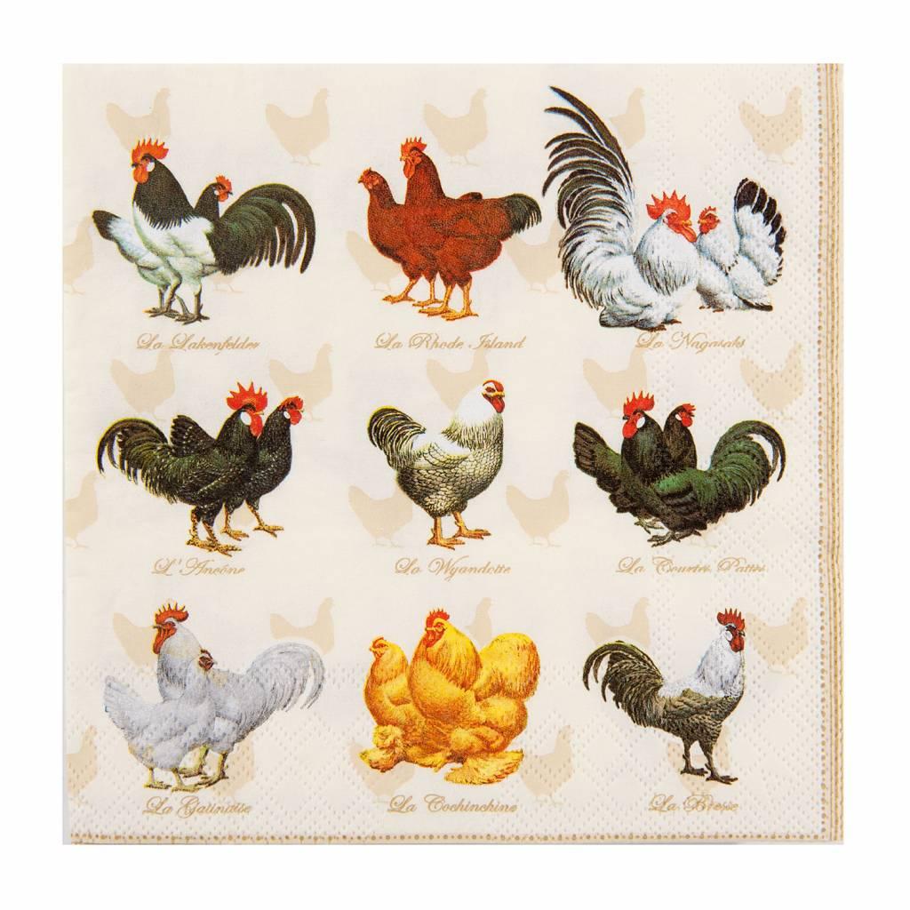 """Wohnaccessoires Landhausstil Papierservietten """"Hühner"""""""
