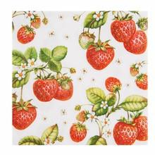 """Wohnaccessoires Landhausstil Papierservietten """"Erdbeeren"""""""