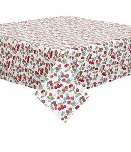 """Tischdecke """"Erdbeeren & Kirschen"""" 100x100"""