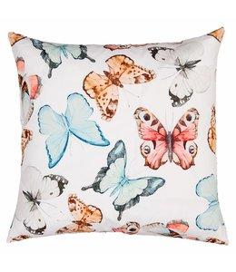 Shabby Chic Kissenhülle Schmetterlinge