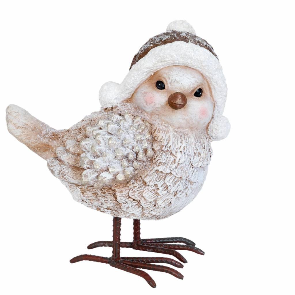 Wohnaccessoires Landhausstil Vogel mit Mütze