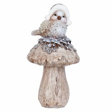 Wohnaccessoires Landhausstil Vogel auf Pilz