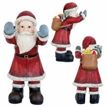 Wohnaccessoires Landhausstil Weihnachtsmann Fenstergucker