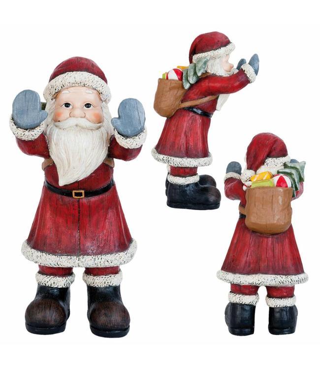 Landhaus Weihnachtsmann Fenstergucker